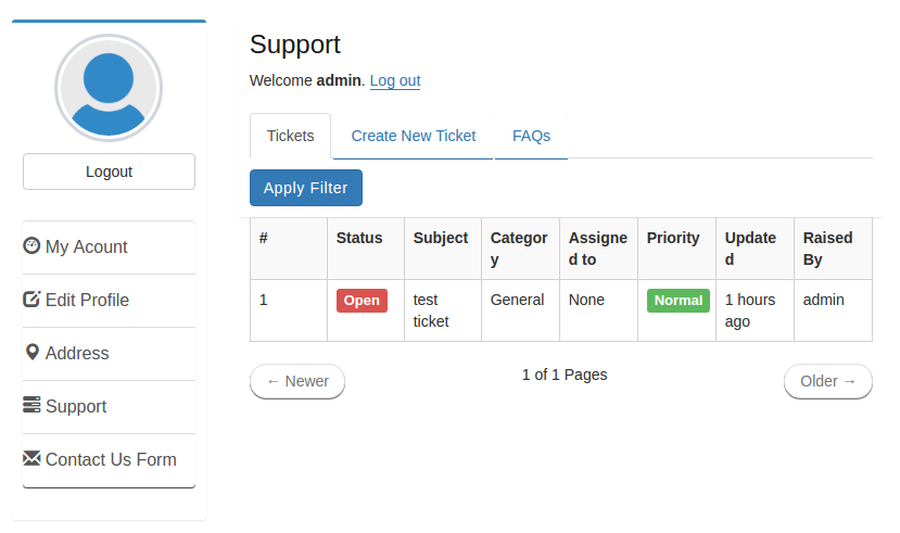 wp-user-profile-support